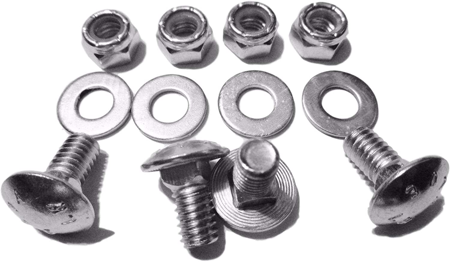 4pk Carriage Bolts Nuts for 784-5581A Shave Plate Scraper Bar