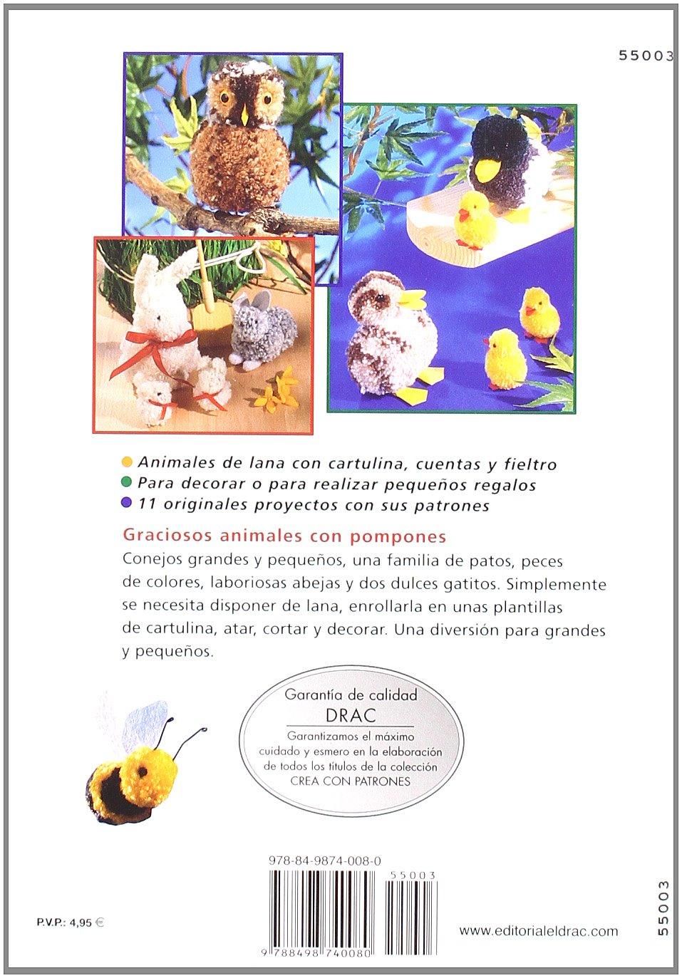 Serie Pompones nº 3. REALIZAR ANIMALES CON POMPONES COMBINANDO LANAS ...