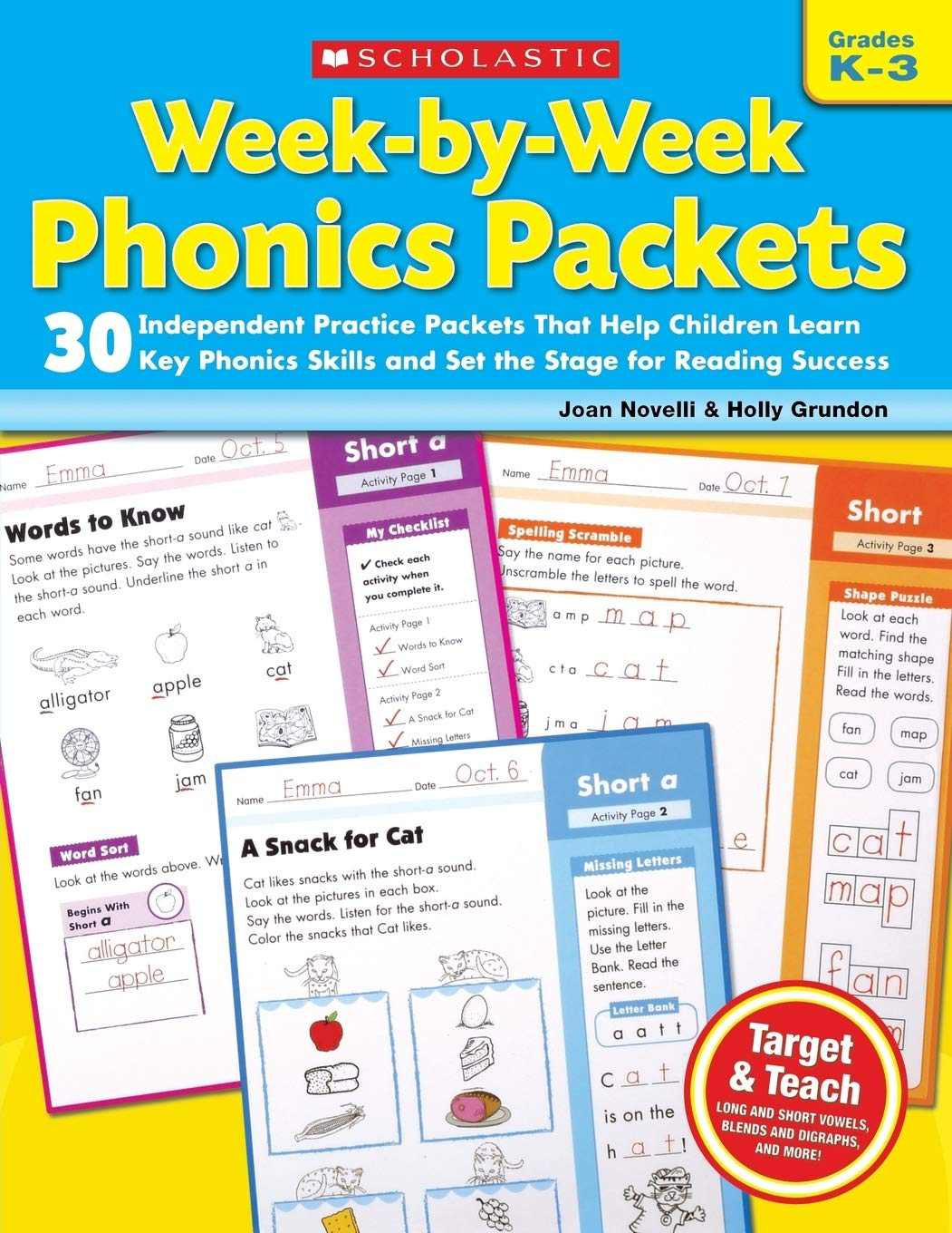 Week-by-Week Phonics Packets: 30 Independent Practice Packets That Help Children Learn Key Phonics Skills and Set the Stage for Reading Success