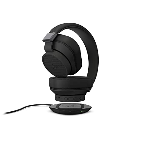 491f8624d0b KitSound District Wireless Bluetooth Over Ear Active Noise Cancelling  Headphones with Wireless Qi Charging and Qi