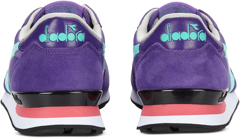 Diadora - Chaussures de Sport Camaro pour Homme et Femme C6265 Purple Vert Elio Cacatua