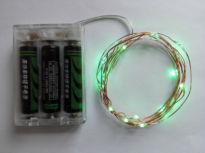 Amazon.com : Viewpick 7ft 20 LEDs Green Led Fairy Lights Copper Wire ...