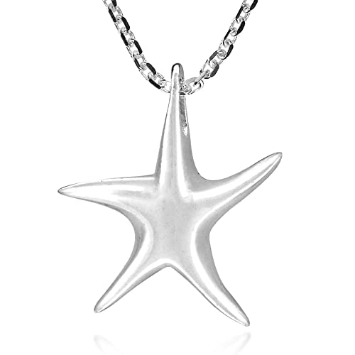 Amazon.com: Whimsical Estrella de mar plata de ley 925 ...