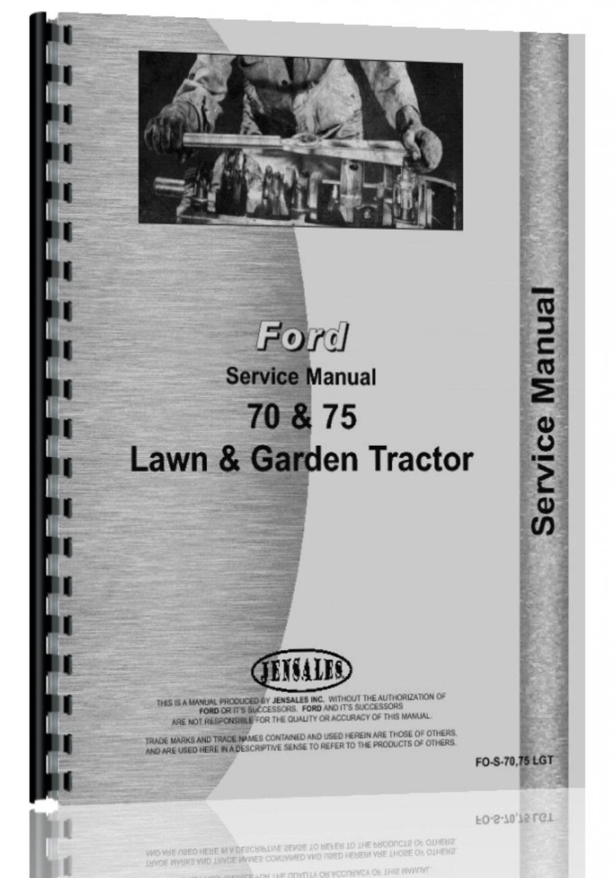 Ford 70 Lawn & Garden Tractor Service Manual: 0739718049918: Amazon.com:  Books
