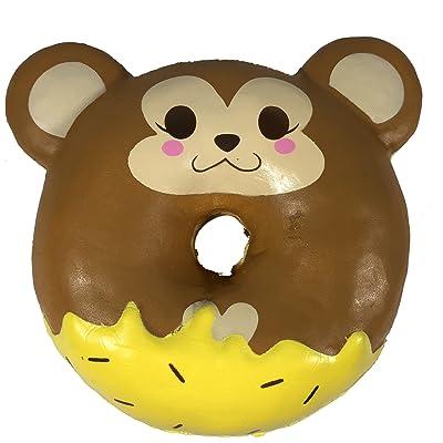 Puni Maru Jumbo Animal Donut with Display Box Featuring Cheeki: Toys & Games
