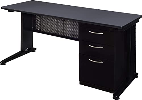 Regency Fusion 72″ x 30″ Single Pedestal Desk
