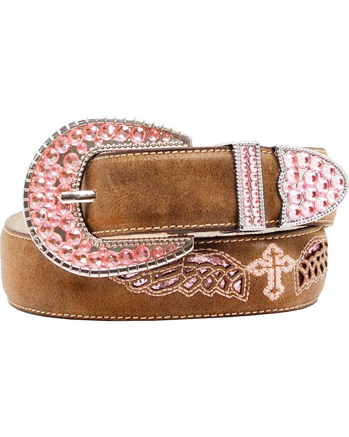 M/&F Western Girls Cross Wings Belt Little Kids//Big Kids Brown 18