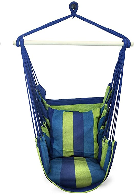Amazon Com Sorbus Hanging Rope Hammock Chair Swing Seat For Any