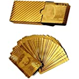 Gold Plated Playing Cards For Magic, Poker, Teen Patti, Nightout Fun, Timepass, Build Numerogical Knowledge, Develope Brain Skills (No.5_bb, Golden) by billionBAG
