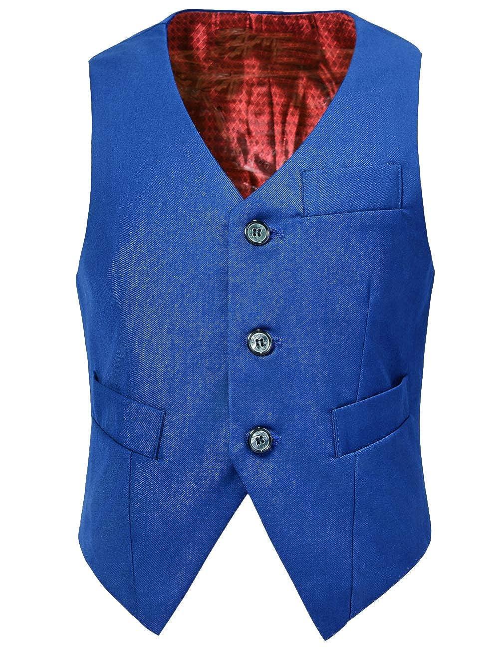 Visaccy 3 Buttons Boys Girls Fully Lined Formal Suit Vest HHM-Vest01
