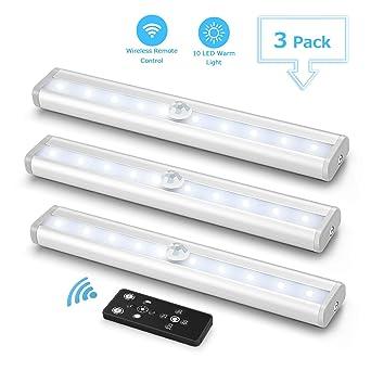 3er LED Unterbauleuchte für Küche, Fansteck Dimmbare Panel ...