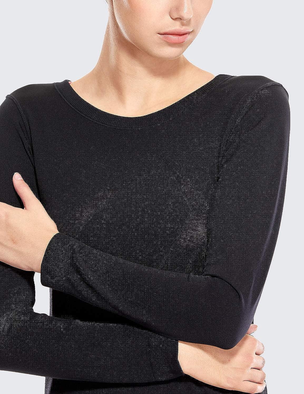 CRZ YOGA Femme T-Shirts et Tops de Sport /à Manches Longue Chemise Workout Running