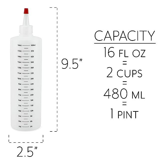 Amazon.com: Cornucopia botellas de plástico de 16 onzas con ...