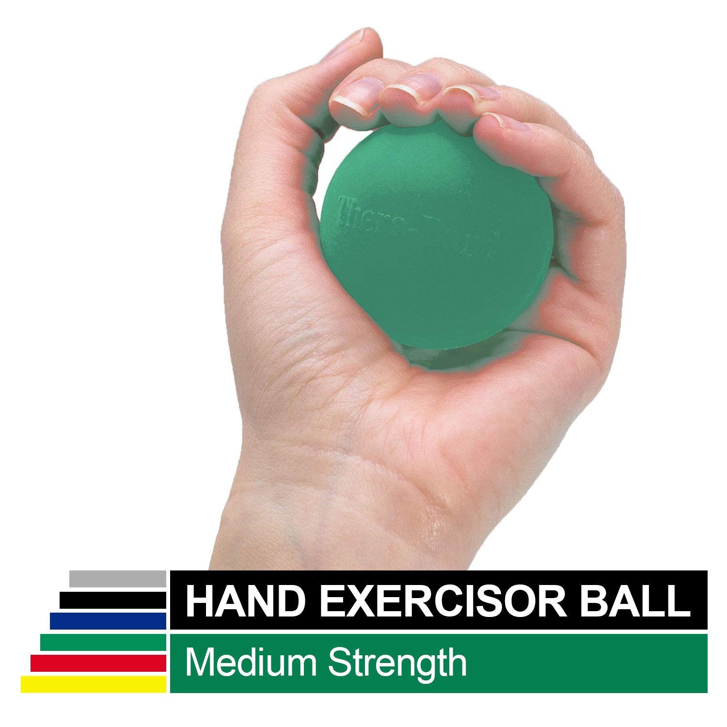 TheraBand Hand Exerciser Squeeze Ball Green – Medium, Extra Large