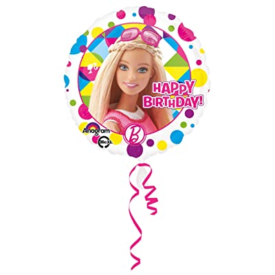 "Anagram 18"" BARBIE Birthday HX Metal Inflatable Balloon Holiday Children's Kids Party Favor Supplies Invitation Deco Cartoon: Toys & Games"