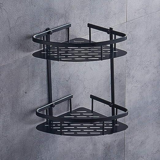 Bathroom Kitchen Triangular Aluminum Storage Rack Basket Wall Mount Shower Shelf