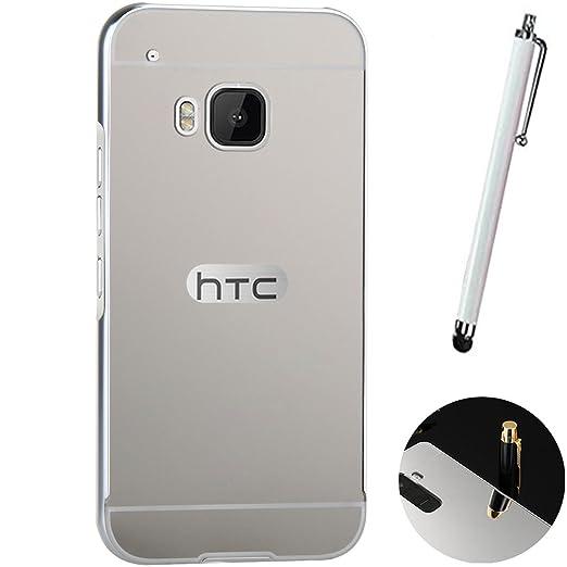 4 opinioni per LXHGrowH HTC ONE M9 Cover, Custodia a Specchio per HTC ONE M9 Metallo