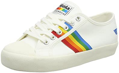 Womens Coaster Rainbow Off White/Multi Trainers Gola v4BsHU
