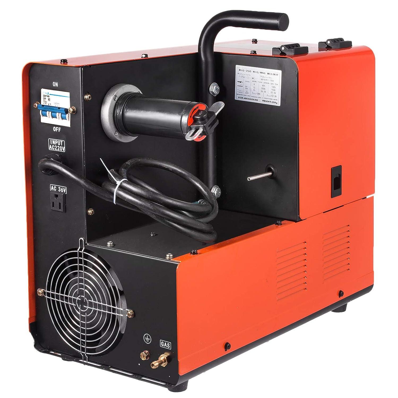 Mophorn MIG-250 - Soldador de mano eléctrica MIG/MAG Inverter (230 V ...