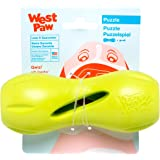 West Paw Zogoflex Qwizl Interactive Treat Dispensing Dog Puzzle Treat Chew Toy for Dogs, 100% Guaranteed Tough, It Floats!, Made in USA, for Strong Chewers