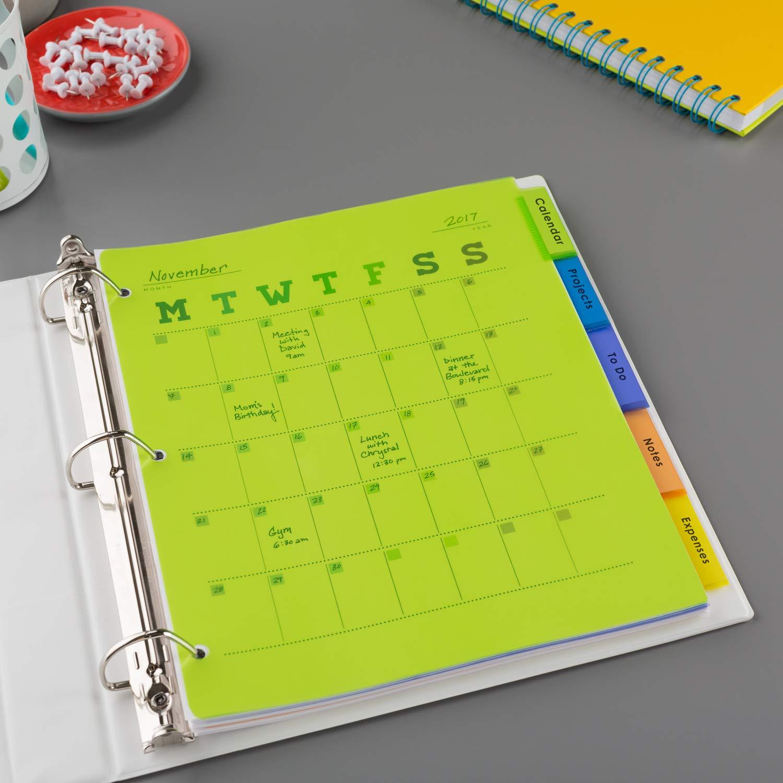 avery 8 tab plastic binder dividers insertable multicolor big tabs 1 set 11901