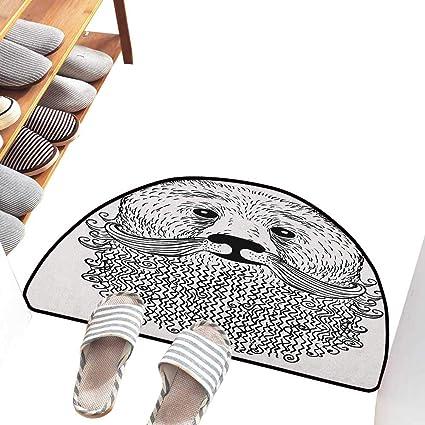 Amazoncom Interior Door Mat Indie Doodle Style Sketch