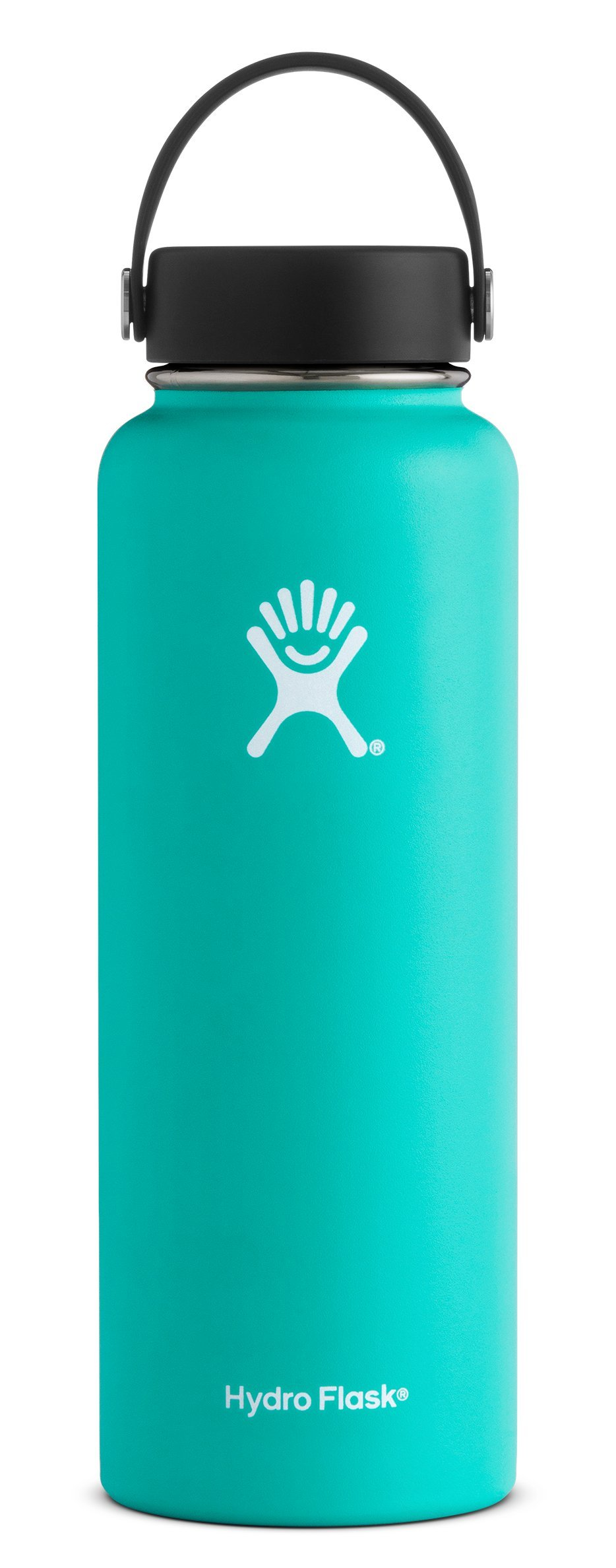 Hydro Flask 40 oz Double Wall Vacuum Insulated Stainless Steel Leak Proof Sports Water Bottle, Wide Mouth with BPA Free Flex Cap, Mint