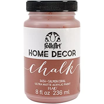 Folk Art Home Decor Chalk Paint 8oz Salmon Coral Folk Art Home