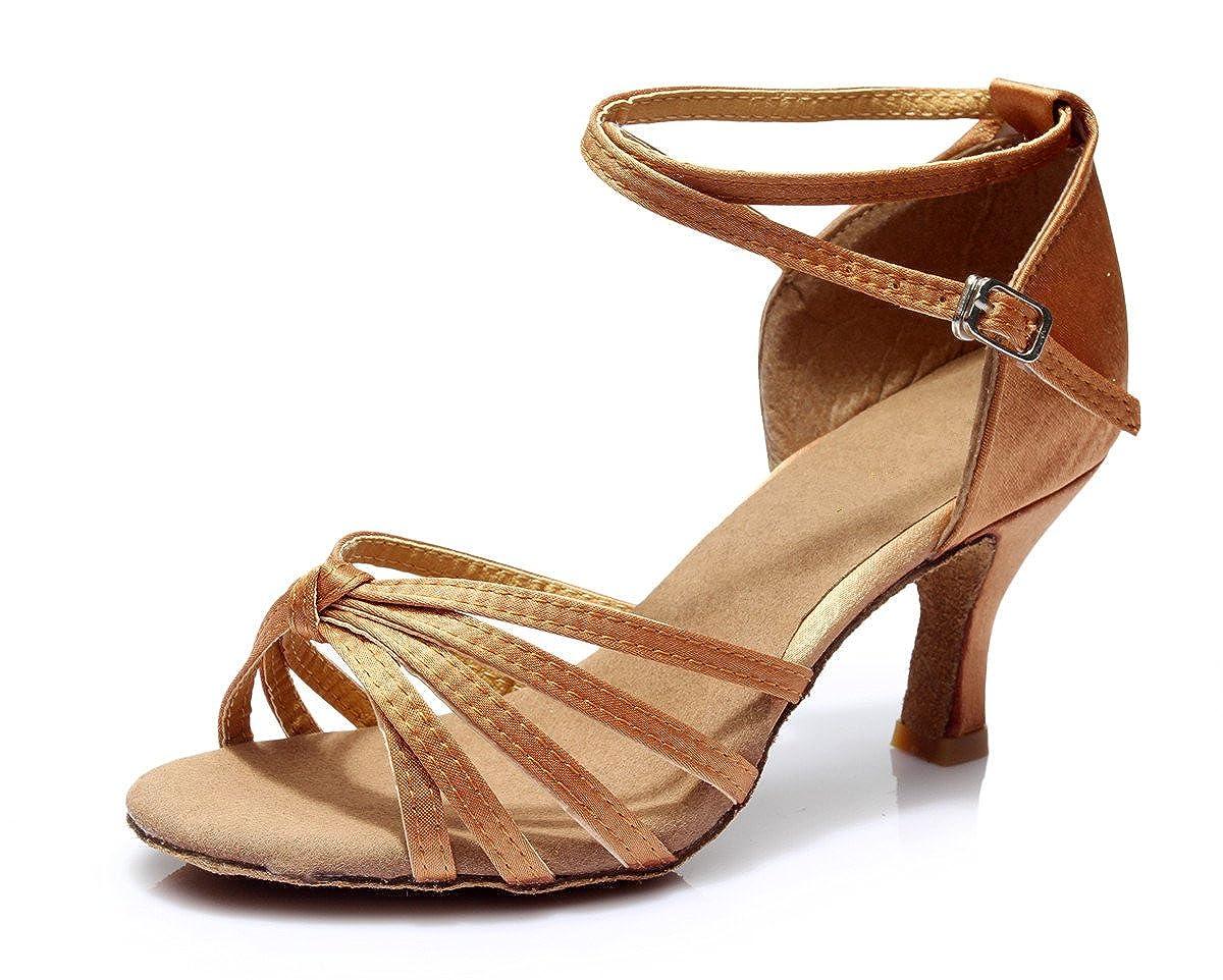 VESI-Chaussures a Talons Hauts de Danse Latine Sandales pour Femme Noeud Marron 38 VZA0001CG38D