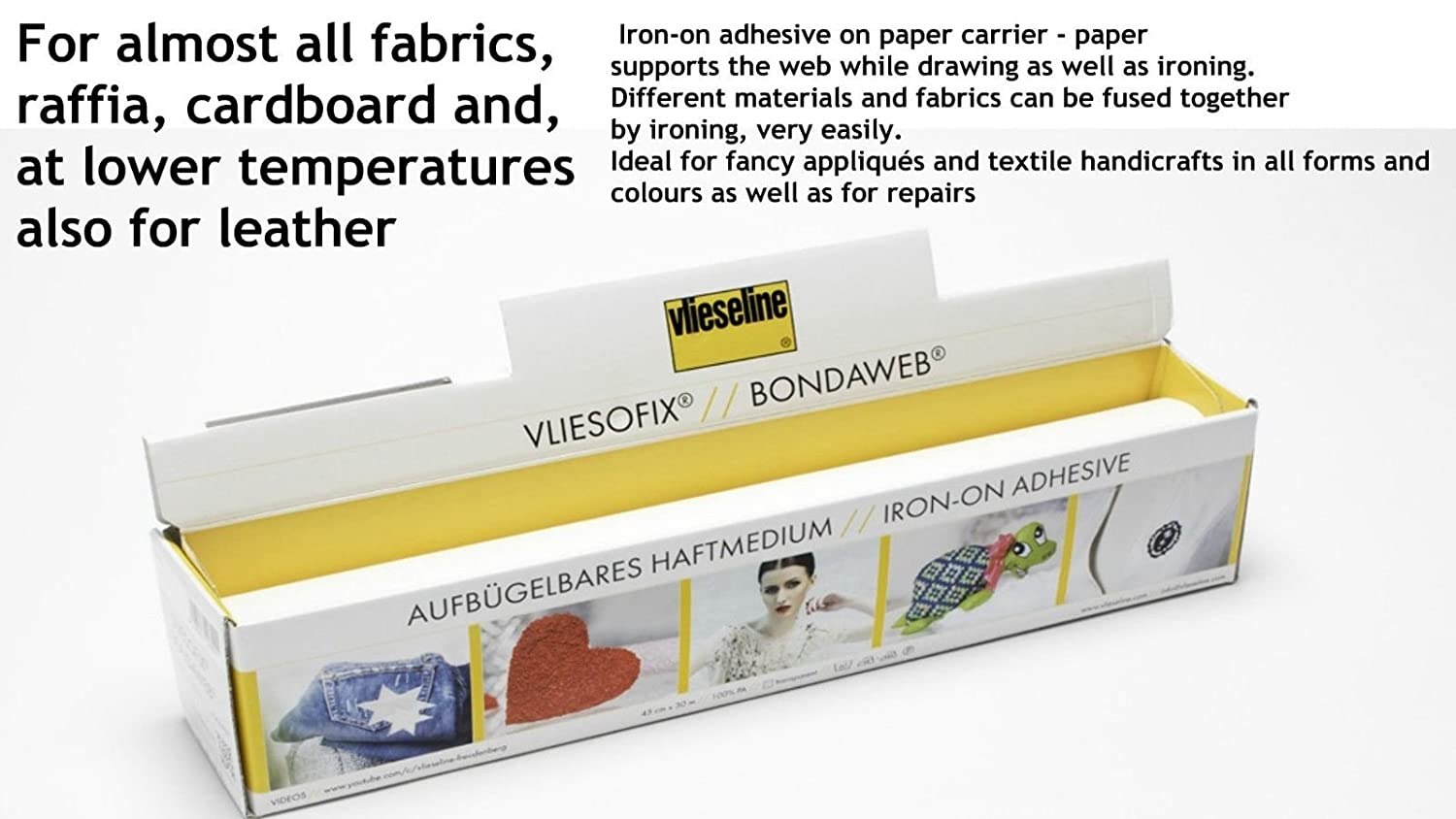 1 Meter - Vlieseline Bondaweb Iron On Fusible Interfacing Web Adhesive Paper Appliques Arts Crafts Patchwork Width 45cm Thimblesfabrics