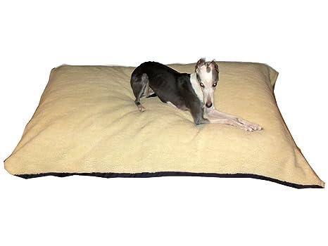 kosipet® crema Sherpa Forro Polar grande romboide Memory Foam Pad Deluxe impermeable cama para perro