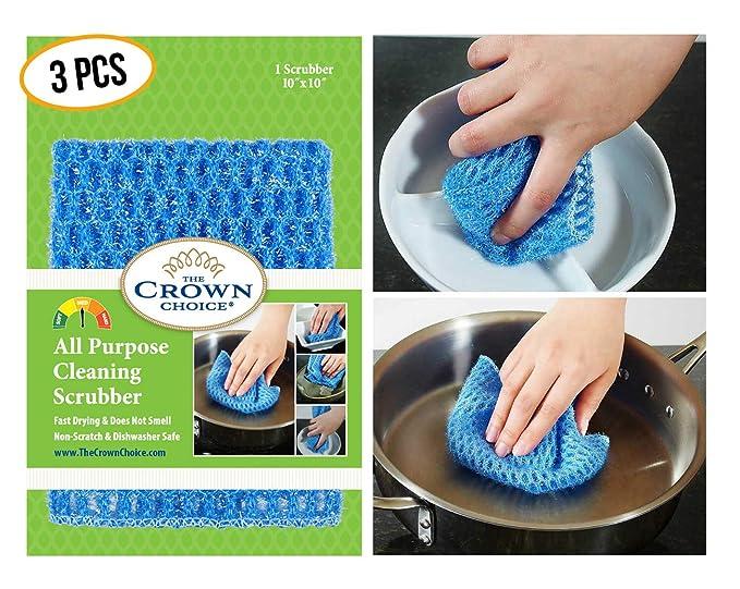 The Crown Choice Sin Olor Paño del plato para de uso múltiple se lava del plato (1 Pk) Sin moho olor de esponjas,depuradores,paños de limpieza,trapos ...