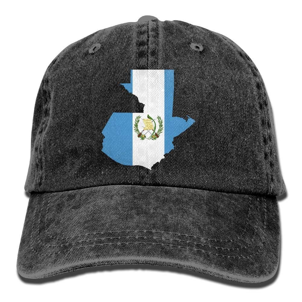 Presock Gorras De Béisbol Adults Guatemala Map Flag Adjustable ...