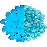 NAMTSO Glow Rocks,『500pcs』Blue Glow in The Dark Pebbles Luminous Stones for Fish Tank Aquarium Indoor & Outdoor Yard Decor Ga
