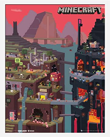 Minecraft World Open World Videospiel PC Mini Poster Plakat Druck - Minecraft videospiele