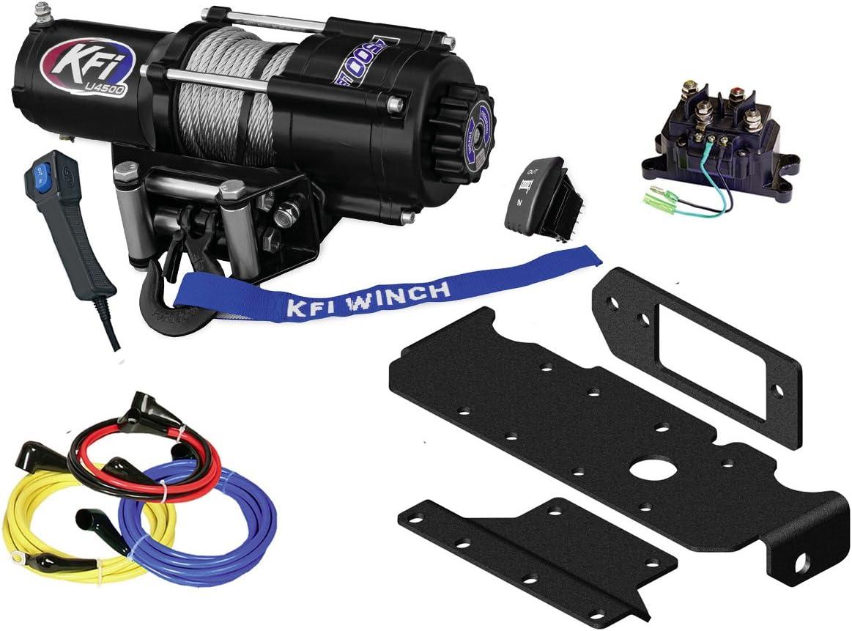 U45-R2 4500lbs Winch /& Mount Bracket 2014-2018 Yamaha Viking /& Viking VI 4x4 KFI Combo Kit