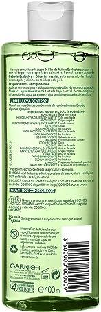 Garnier BIO Agua Micelar con Agua de Flor de Aciano y Cebada Ecológicas - 400 ml