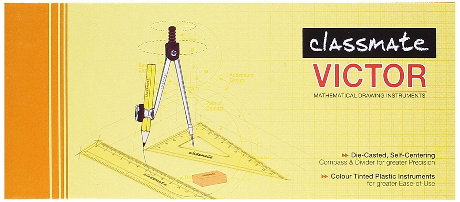 Classmate Victor Geometry Box - Pack Of 5 Box by StationeryWorld