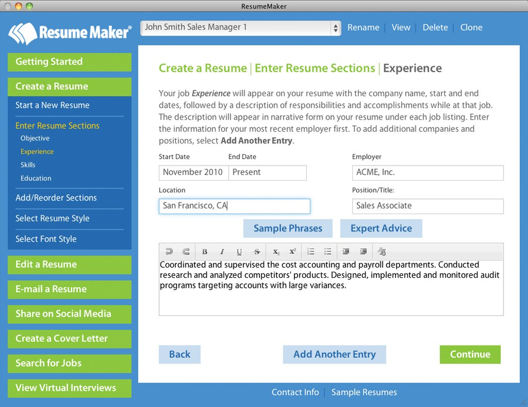 amazoncom resume maker mac download software - Resume Maker