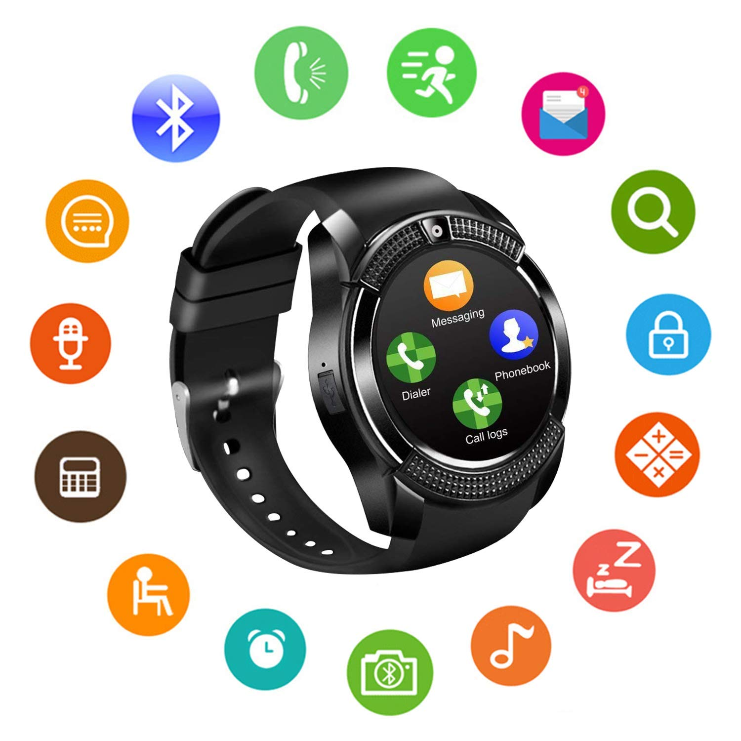 Amazon.com: Smart Watch Bluetooth Smart Watches Touch Screen ...