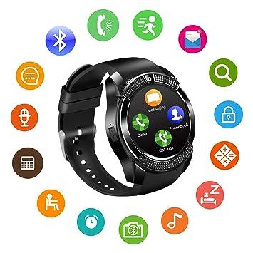 Amazon.com: Smart Watch Bluetooth Smart Watches Touch Screen ...