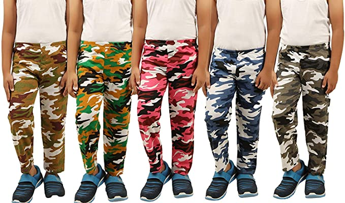new & pre-owned designer 100% satisfaction guarantee comfortable feel KIDDY STAR Kids Army Pant Cotton (Multi Colour,Pack of 5)
