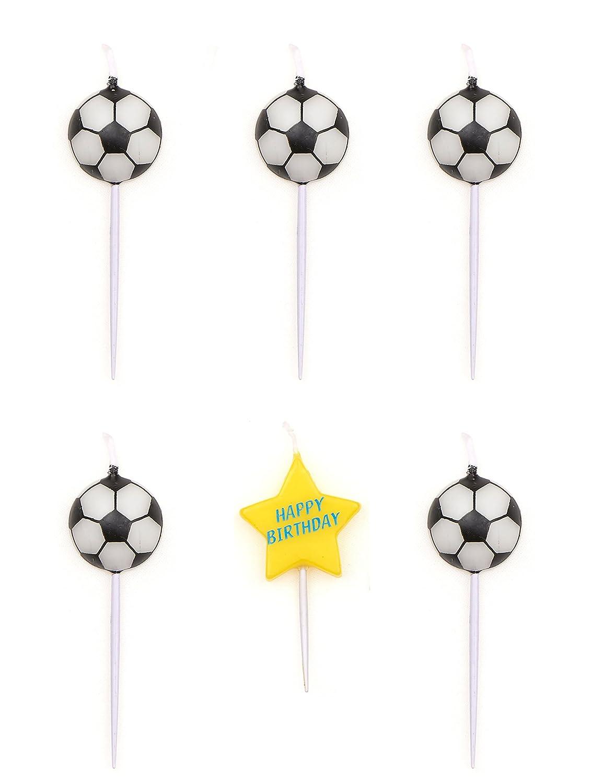 Generique - Velas de Cumpleaños en Forma de balones de Fútbol ...