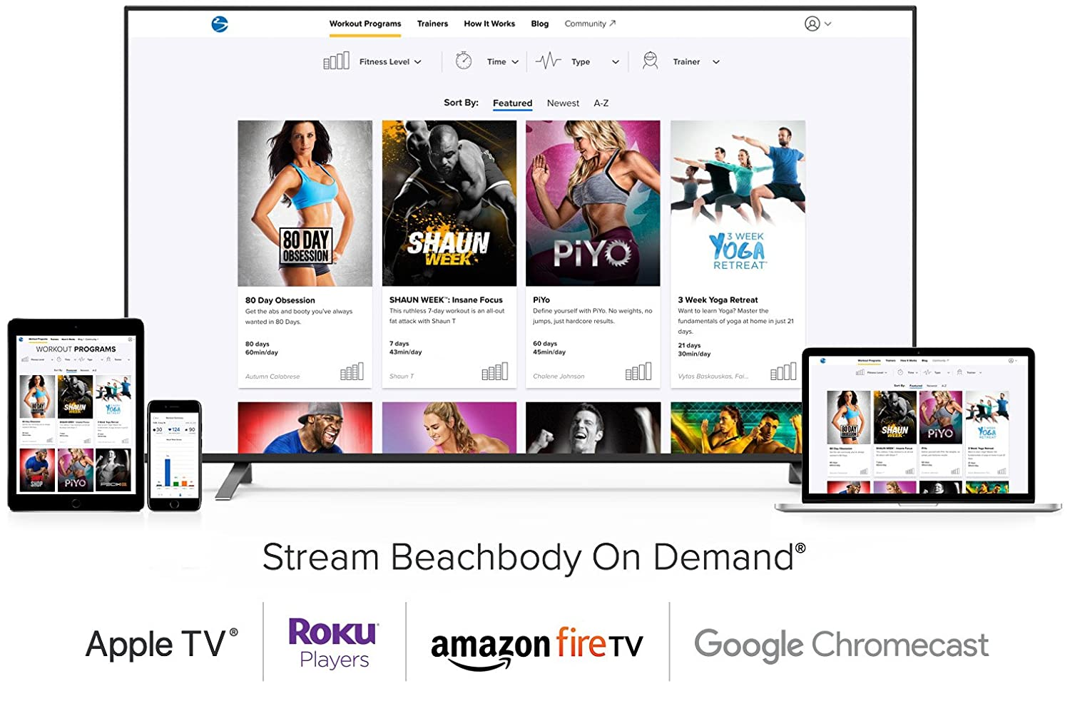 e5b149974423 Amazon.com: Beachbody on Demand 12 Month Membership – Stream over 700  workouts including 80 Day Obsession, P90X, 3 Week Yoga Retreat, 21 Day Fix,  INSANITY, ...