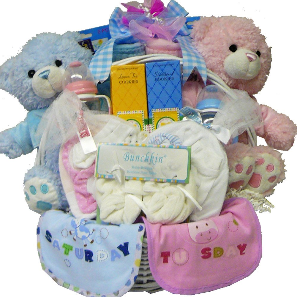 Art of appreciation gift baskets double the fun new baby gift art of appreciation gift baskets double the fun new baby gift basket twin boys amazon grocery gourmet food negle Image collections