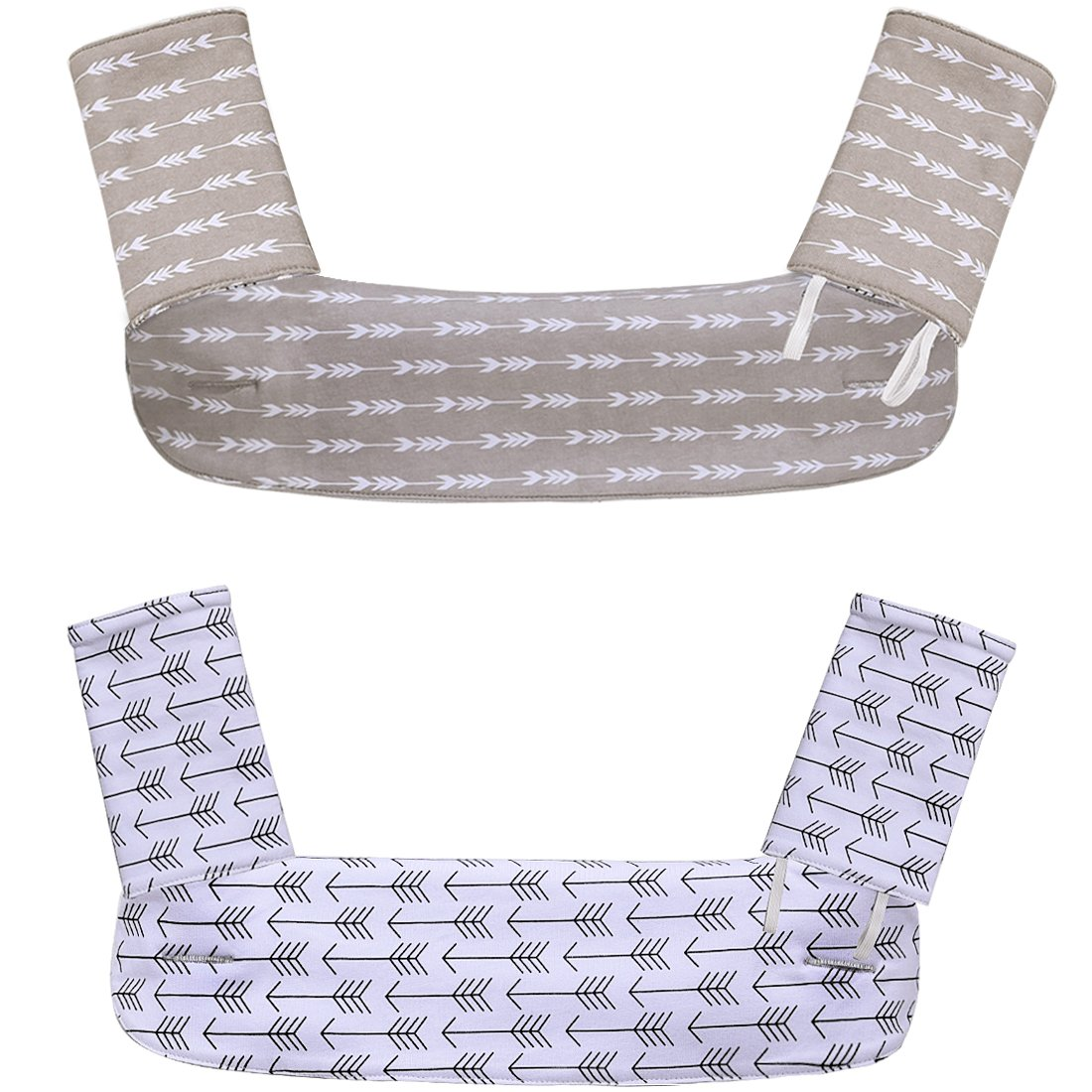 Kyapoo Baby Drool and Teething Pad Reversible Organic Cotton Bibs 3 Piece Gift Set for Ergobaby Four Position 360 Baby Carrier Black White Arrows