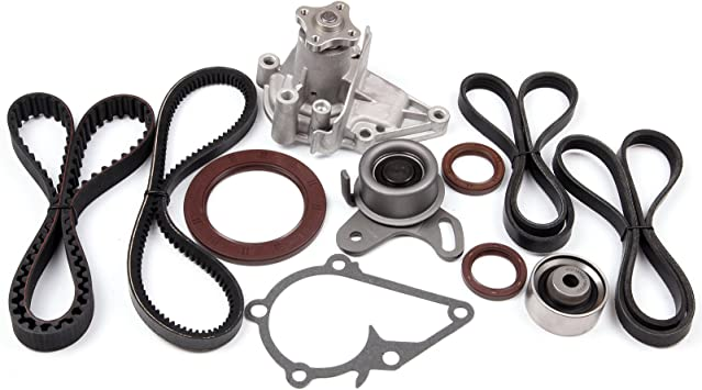 OCPTY Timing Belt Kit Including Timing Belt Water Pump with Gasket tensioner Bearing etc Compatible for 2009 2010 2011 2012 Hyundai Elantra