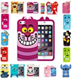 EAGLE® New 3D Kids Cartoon Disney Silicone Rubber Gel Back Case For Apple iPhone 5 5s (Alice Cat)