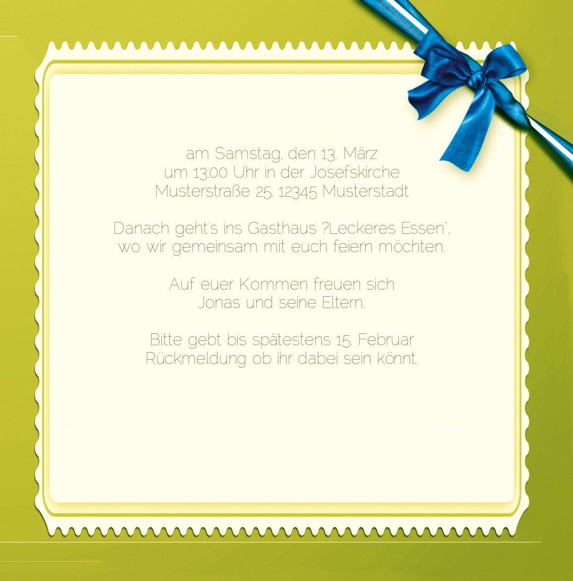 Kartenparadies Kartenparadies Kartenparadies Einladungskarte Taufeinladung Taufkarte Ribbon, hochwertige Einladung zur Taufe inklusive Umschläge   10 Karten - (Format  145x145 mm) Farbe  Rosalila B01N16WJHZ | Starke Hitze- und Abnutzungsbeständigkeit  | Up-to-date-styling  | Ko 2d91f8