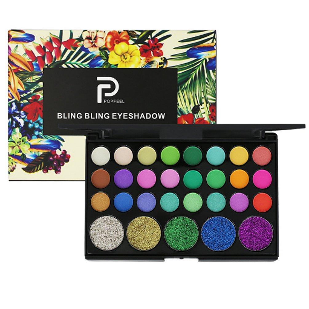 Eyeshadow Palette 29 Colors Pressed Powder Eye Shadow Make Up Waterproof Glitter Palette Cosmetics (Bright)